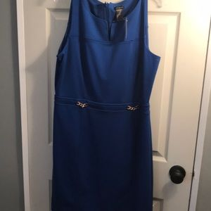 NWT blue buckle front dress